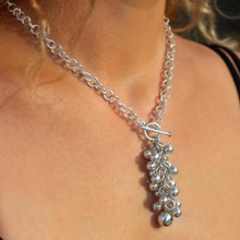 Saturn Sterling Silver Bubble Necklace Necklace