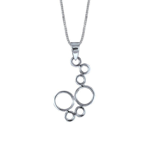 Circo Sterling Silver Circle Pendant Necklace Pendant