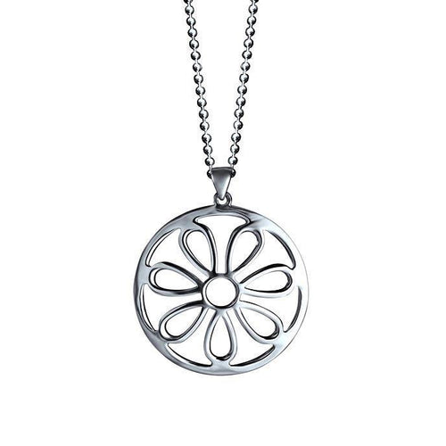 Daisy Sterling Silver Flower Pendant Necklace Pendant