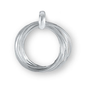 Eternity Sterling Silver Intertwined Pendant Necklace Pendant
