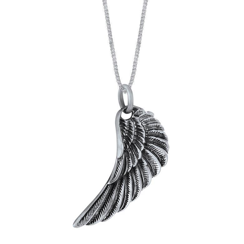 Heaven Sent Sterling Silver Angel Wing Pendant Necklace Pendant
