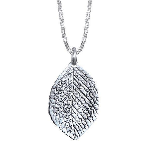 Lime Sterling Silver Leaf Pendant Necklace Pendant