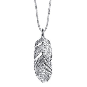 Pluma Sterling Silver Feather Pendant Necklace Pendant