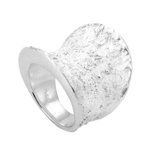 Azuka Sterling Silver Textured Ring Ring