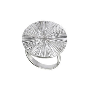 Chaka Sterling Silver Disco Ring Ring