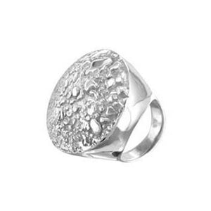 Queenie Sterling Silver Round Textured Ring Ring