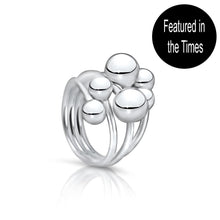 Saturn Sterling Silver Bubble Ring Ring
