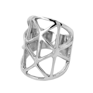 Stella Sterling Silver Cut-Out Ring Ring