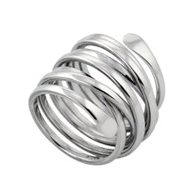 Tia Coiled Sterling Silver Ring Ring