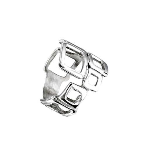 Cuadro Sterling Silver Geometric Ring Ring