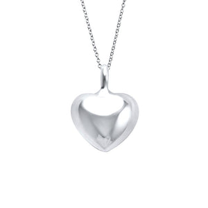 Eternity Sterling Silver Full Heart Pendant Necklace Necklace