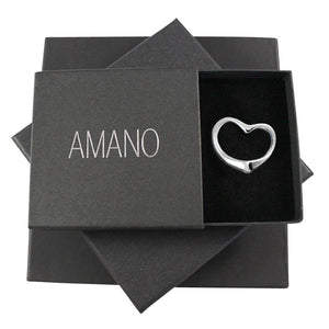 Ayana Cut-Out Heart Sterling Silver Pendant Necklace Necklace