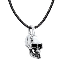 Pirata Kids Sterling Silver Skull Pendant Necklace Kids Pendant