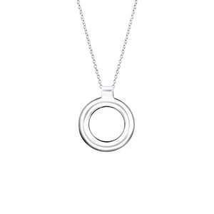Serenity Sterling Silver Circle Necklace Necklace