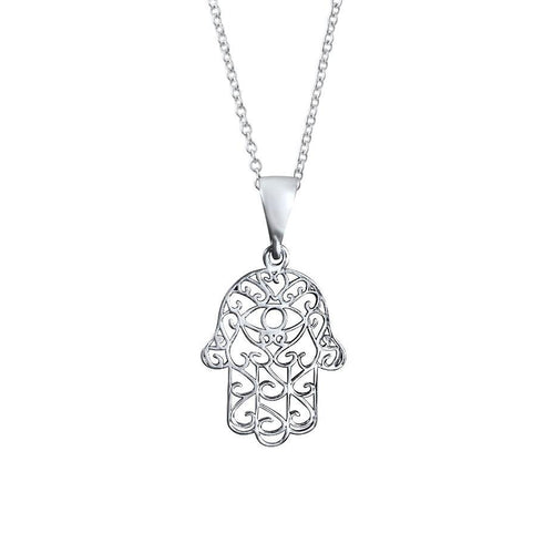 Zahra Sterling Silver Hand Pendant Necklace Necklace