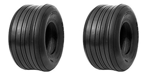 13x5.00-6 Major Brand Rib 4 Ply Rated Tubeless Ribbed Tires  (SET OF 2)