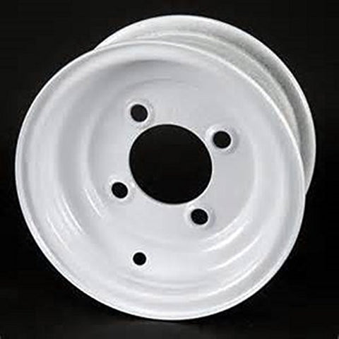 "8""  White Steel Trailer Wheel 4 Bolt/Lug Fits 18.5x8.50-8  18.x9.50-8 Tires"