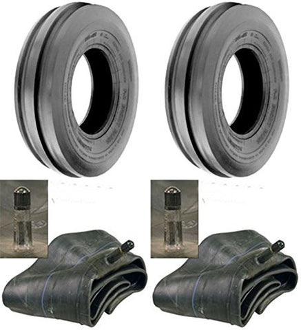 4.00-19 Major Brand Tri Rib (3 Rib) 4 ply rated Tires with Tubes  (Set of 2)