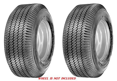 4.10/3.50-6 Major Brand 4 Ply Rated Tubeless Sawtooth Tread Rib Tires (SET OF 2)