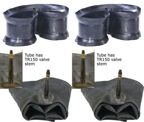 7.00R16  7.00-16 7.50R16  7.50-16 Major Brand Truck Tire Inner Tubes and Flaps TR150 Bendable Rubber Valve Radial/Bias (SET OF 2)