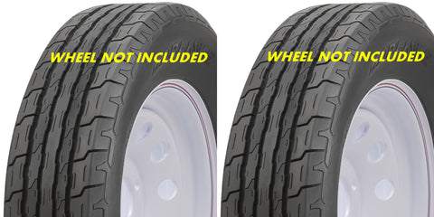 4.80-8 Carlisle Sport Trail Hiway Speed Load Range C  6Ply Rated Tubeless Trailer Service Tires (SET OF 2)