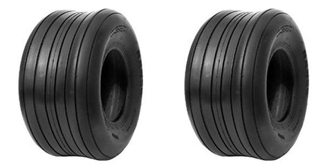 15x6.00-6 Major Brand Heavy Duty  6 PLY RATED Tubeless Lawn Mower Tractor Rib Tires (SET OF 2)