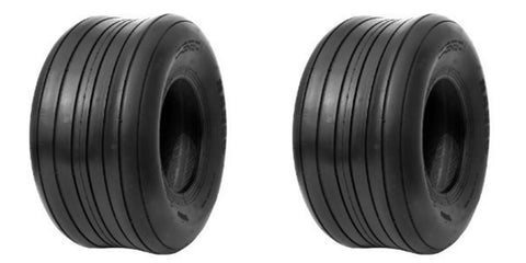 16x6.50-8 Deestone 4 Ply Rated Tubeless Lawn Mower Tractor Rib Tires (SET OF 2)