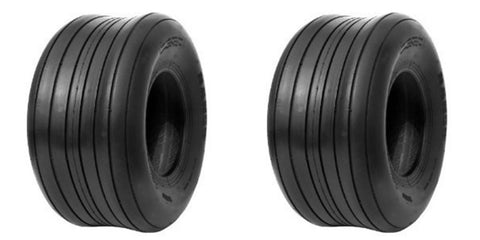 18x8.50-8 Deestone 4 Ply Rated Tubeless Lawn Mower Tractor Rib Tires (SET OF 2)