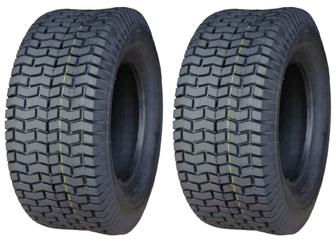 18x6.50-8  Deestone D265  4 Ply Rated Tubeless Lawn Mower Tractor Turf Tires (SET OF 2