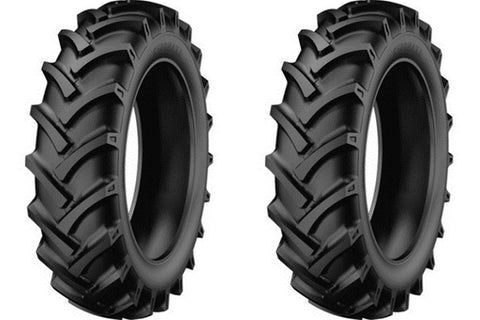 6.00-16-StarMaxx Compact Tractor Tires & Tubes-R1 LUG Heavy Duty 6 PR (SET OF 2)