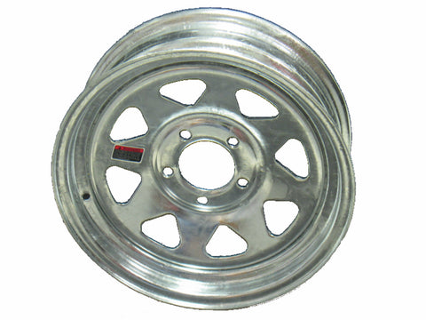"14"" Galvanized Steel Trailer Wheel 5 Bolt / Lug Fits 205/75-14 F78X14"
