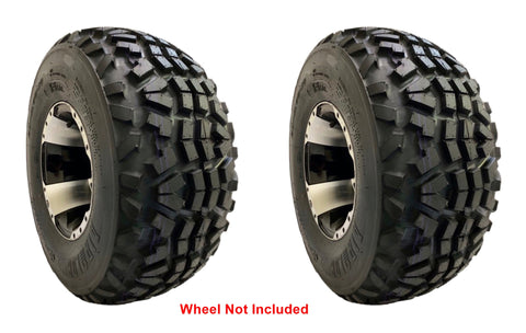 24X9-10 Air-Loc X-Trail Tires 8 PLY Rated Tubeless replaces Dunlop KT869 24X9.00-10 Mule (SET OF 2)