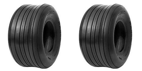 13x5.00-6 Carlisle Straight Rib 4 Ply Rated Tubeless Lawn & Garden Tires (SET OF 2)