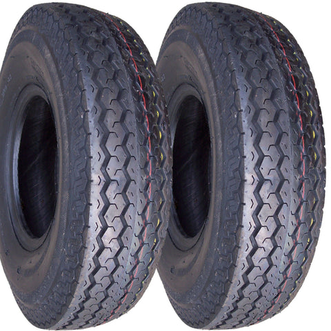 4.80-8 Major Brand  Hiway Speed Load Range C 6 Ply Rated Tubeless Trailer Service Tires (SET OF 2)