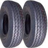 4.80-12 Major Brand Hiway Speed Tubeless Trailer Service Tires Load Range C 6 Ply Rated  (SET OF 2)