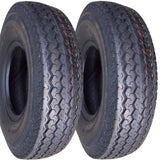 4.80-8 Deestone Hiway Speed Load Range C  6 Ply Rated Tubeless Trailer Service Tires (SET OF 2)
