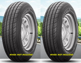 205/75R15 Gladiator QR25-TS RADIAL Hiway Speed Tubeless Trailer Service Tires Load Range C 6 Ply Rated  (SET OF 2)