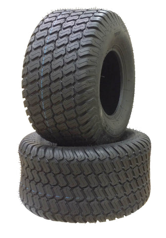 18x8.50-10  Major Brand  4 Ply Rated Tubeless Lawn Mower Tractor Turf Tires (SET OF 2)