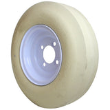 4.80-8 Cheng Shin White Smooth Non Marking 2 Ply Rated Pitching Machine Replacement Tire and 4 Bolt Wheel Assembly