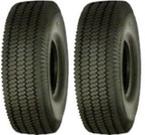 2.80/2.50-4 Major Brand 4 ply rated Tubeless Sawtooth Rib Tires (SET OF 2)