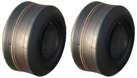 11x4.00-5 Major Brand 4 Ply Rated Tubeless Smooth Slick Tires (SET OF 2)