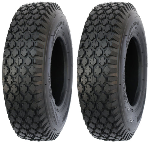 4.80/4.00-8 Air Loc  4 Ply Rated Tubeless Stud Tires  (SET OF 2)