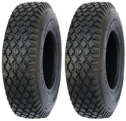 4.10/3.50-4 Major Brand Stud Tire 4 Ply Rated Tubeless Tires (SET OF 2)