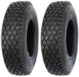4.10/3.50-6 Major Brand 4 Ply Rated Tubeless Stud Tires (Set of 2)