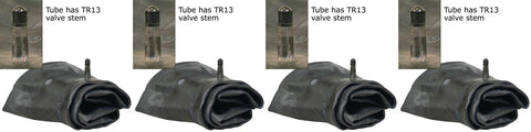 15x6.00-6 Air Loc Tire Inner Tubes with TR13 Rubber Valve Stems (SET OF 4 TUBES)