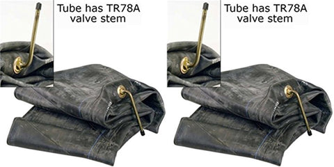 8.25R20 8.25-20 Heavy Duty Tire Inner Tubes with TR77A Bent Metal Valve Stem Radial/Bias (SET OF 2)