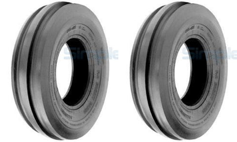 5.50-16 Major Brand Tri Rib (3 Rib) F-2  6 Ply Rated TUBELESS Tires (Set of 2)