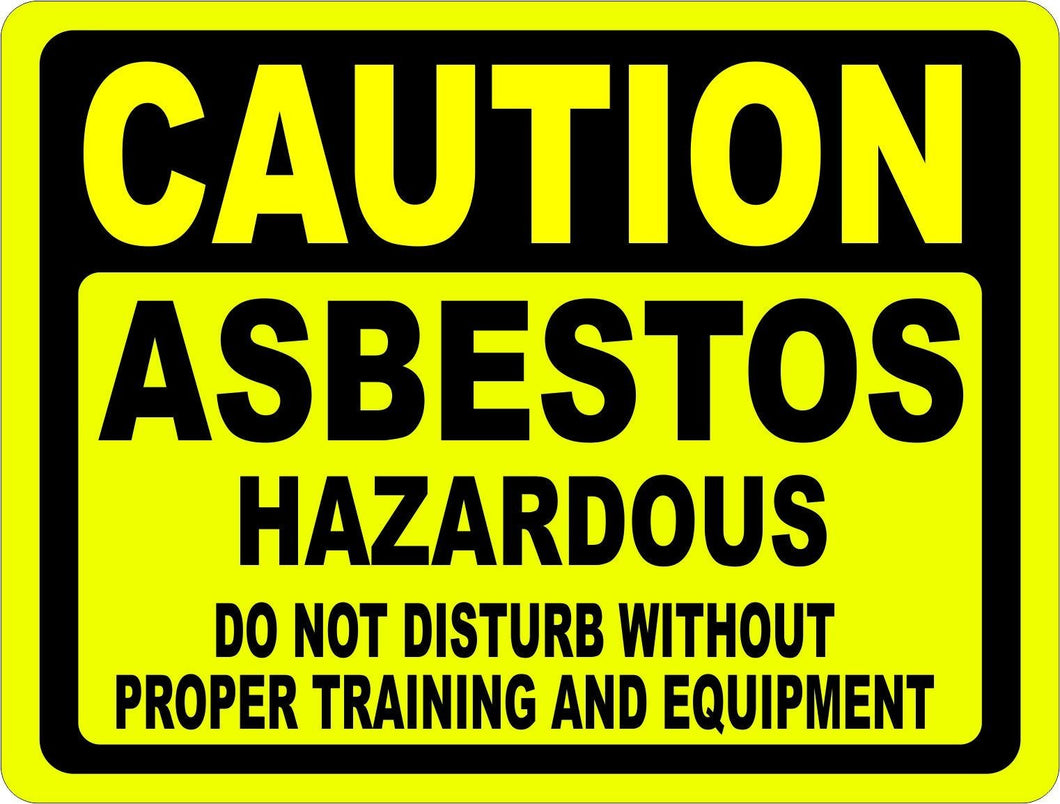 Caution Asbestos Hazardous Do Not Disturb Sign - Signs & Decals by SalaGraphics
