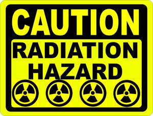 Caution Radiation Hazard Sign - Signs & Decals by SalaGraphics