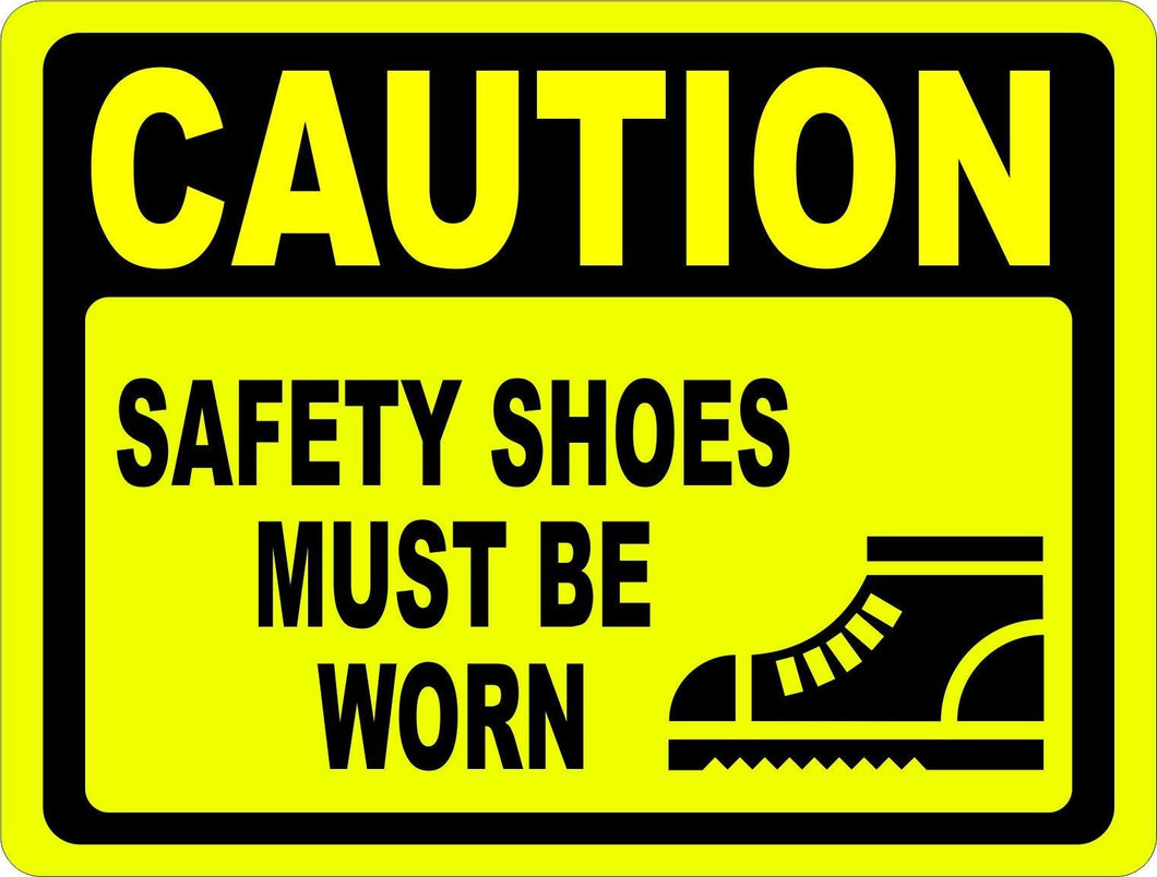 Caution Safety Shoes Must Be Worn Sign - Signs & Decals by SalaGraphics